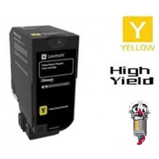 Genuine Lexmark 74C1SY0 Yellow Laser Toner Cartridge