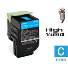 Lexmark 80C1SC0 Cyan Laser Toner Cartridge Premium Compatible