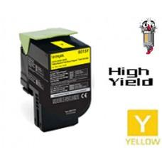 Lexmark 80C1SY0 Yellow Laser Toner Cartridge Premium Compatible