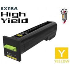 Genuine Lexmark 82K0X40 Extra High Yield Yellow Laser Toner Cartridge