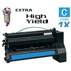 Lexmark C782X1CG Extra High Yield Cyan Laser Toner Cartridge Premium Compatible