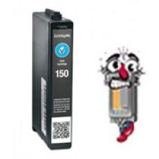 Lexmark Vizix #150XL 14N1615 High Yield Cyan Inkjet Cartridge Remanufactured