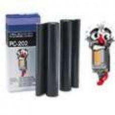 Brother PC202RF Black Thermal Ribbon Rolls 2 Pack Premium Compatible