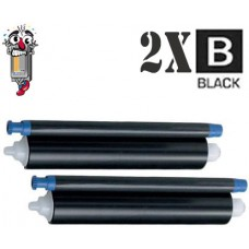 Panasonic KX-FA136 Black OEM Fax Refill Roll 2 Pack