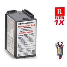 Pitney Bowes 793-5 Fluorescent Red Ink Cartridge Remanufactured