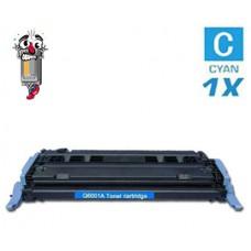 Hewlett Packard Q6001A HP124A Cyan Toner Cartridge Premium Compatible