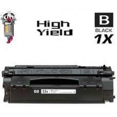 Hewlett Packard Q7553X HP53X High Yield Black Laser Toner Cartridge Premium Compatible