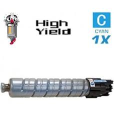 Ricoh 821073 (821108) High Yield Cyan Laser Toner Cartridge Premium Compatible