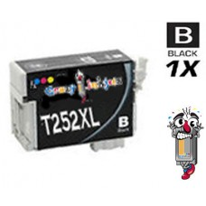 Epson T252XL High Yield Black Inkjet Cartridge Remanufactured