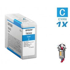 Genuine Original Epson T850200 UltraChrome Cyan Inkjet Cartridge