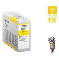 Genuine Original Epson T850400 UltraChrome Yellow Inkjet Cartridge