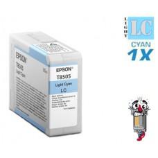 Genuine Epson T850500 UltraChrome Light Cyan Inkjet Cartridge