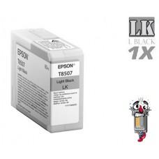 Genuine Original Epson T850700 UltraChrome HD Light Black Inkjet Cartridge