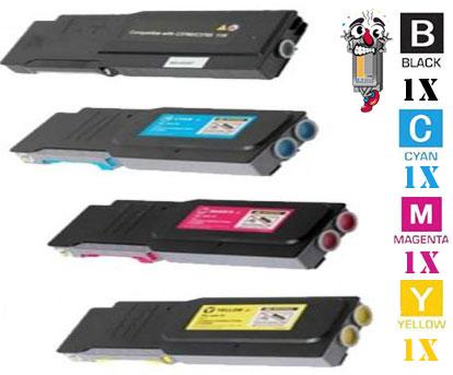 4 Pack Dell W8D60 1M4KP XKGFP MD8G4 331-84 Laser Toner Cartridges