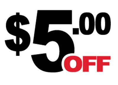 $5 off with $50 order