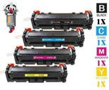 4 Piece Bulk Set Hewlett Packard HP410X Laser Toner Cartridge