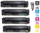 4 Piece Bulk Set Hewlett Packard CF502X HP202X Laser Toner Cartridges