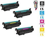 4 Piece Bulk Set Hewlett Packard HP201A Laser Toner Cartridges