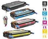 4 Piece Bulk Set Hewlett Packard HP501A HP503A Laser Toner Cartridges