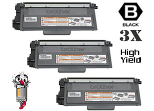 3 Piece Bulk Set Premium Compatible Brother TN750 DR720 Toner Cartridges