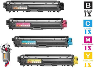 4 Piece Bulk Set Premium Compatible Brother TN221 Toner Cartridges