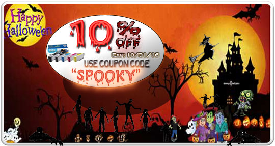 Happy Halloween Save 10% on Ink and laser toner Cartridge