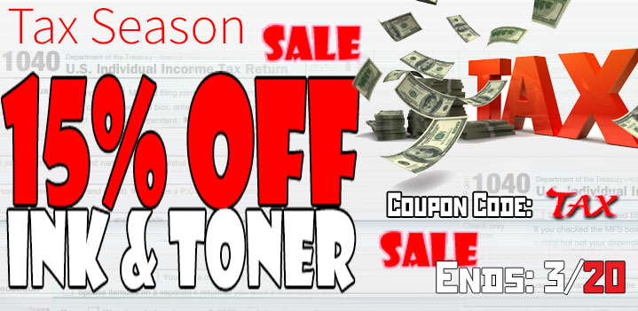 Tax Season Sale Printer Ink laser toner Get Additional 10% OFF
