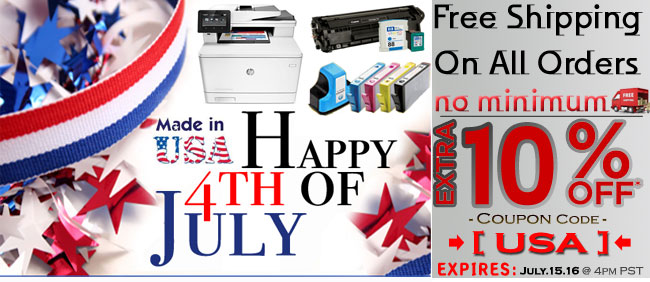 4th of July Sale Ink and laser toner Cartridge