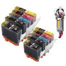 10 Piece Bulk Set Remanufactured Canon PGI220 CLI221 Ink Cartridges