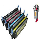 4 Piece Bulk Set Premium Compatible Hewlett Packard HP501A Laser Toner Cartridges