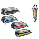 4 Piece Bulk Set Premium Compatible Hewlett Packard HP643A Laser Toner Cartridges