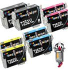 8 Piece Bulk Set Remanufactured Epson T252XL Ink Cartridges