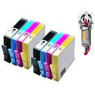 8 Piece Bulk Set Remanufactured Hewlett Packard HP564XL Ink Cartridges